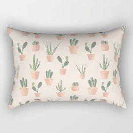 Cactus Pattern - Succulent Art Print, Desert Art Rectangular Pillow