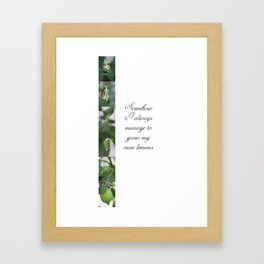 Growing lemons Framed Art Print