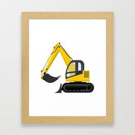 Yellow Excavator Framed Art Print