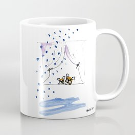"""Ohh, just rain"" french bulldog art by BoubouleArt Coffee Mug"