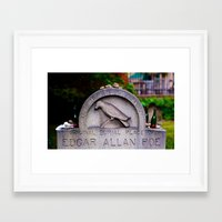 edgar allen poe Framed Art Prints featuring Original Burial Place of Edgar Allen Poe by Ann Yoo