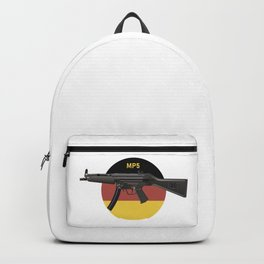MP5 Submachine Gun with German Flag Backpack