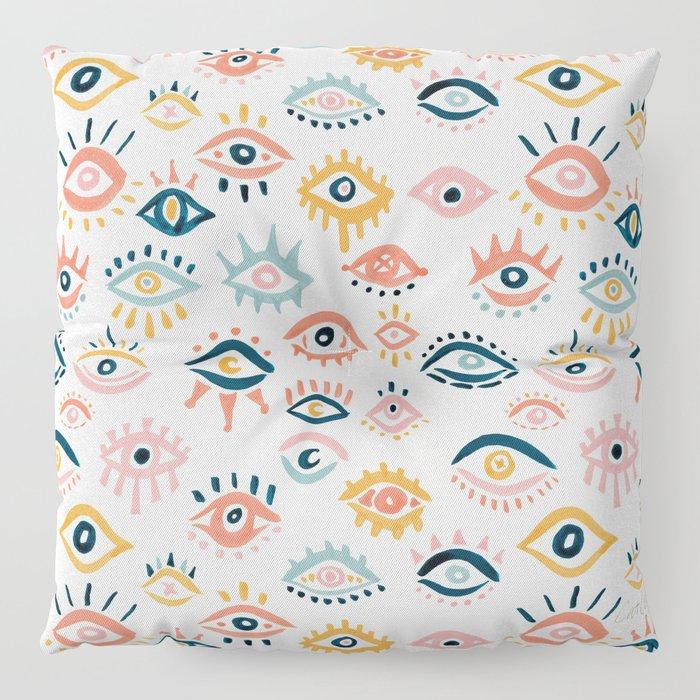 Mystic Eyes – Primary Palette Floor Pillow