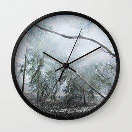 Misty birch Wall Clock
