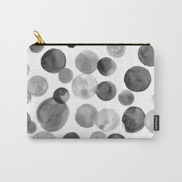 Black and Silver Bubbles Carry-All Pouch