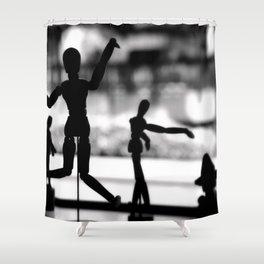 Wooden Puppet Shower Curtain