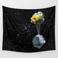 death star Wall Tapestries featuring Death Star by J Styles Designs