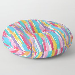 Colorful crayons brushstrokes pattern Floor Pillow