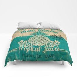 Hala Kahiki Juice Stand wooden board. Comforters