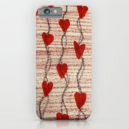 All My Hearts on Display iPhone Case