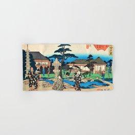 12,000pixel-500dpi - Utagawa Hiroshige - Edo Komeikaiteizukushi - Mukojima, Daishichi Hand & Bath Towel
