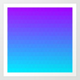 Blue and Purple Ombre - Flipped Art Print