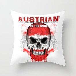 To The Core Collection: Austria Throw Pillow