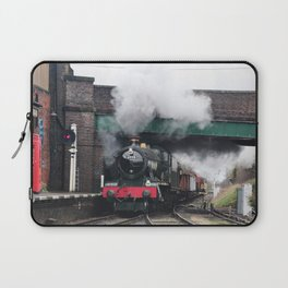 Vintage Steam Railway Train at the Station Laptop Sleeve
