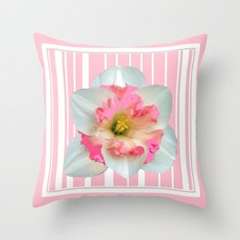 PINK ECTACY FLORAL PATTERNS Throw Pillow