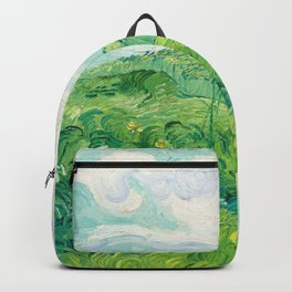 Green Wheat Fields - Auvers, by Vincent van Gogh Backpack