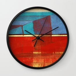 "Literatura de cordel  ""A Chegada de Lampião no Céu""(The Arrival of ""Lampião"" in Heaven) Wall Clock"