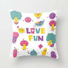 love fun Throw Pillow