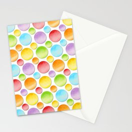 Rainbow Polka Dots Stationery Cards