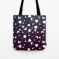 starry night Tote Bags featuring Starry Night by Oh Monday