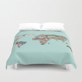 Louis Armstrong Told Us So (teal) Duvet Cover