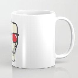 Line skull with 3D glasses Coffee Mug