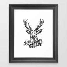 My Dear Deer Framed Art Print