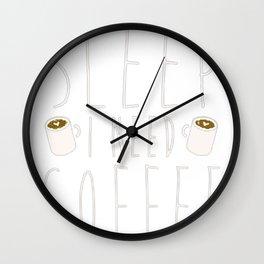 I DON'T NEED SLEEP I NEED COFFEE T-SHIRT Wall Clock
