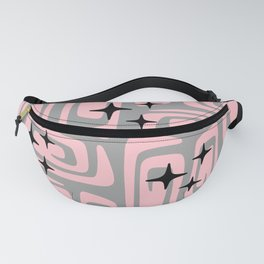 Mid Century Modern Cosmic Galaxies 438 Pink and Gray Fanny Pack
