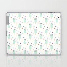 Summer sweet pastel teal ice cream geometrical pattern Laptop & iPad Skin