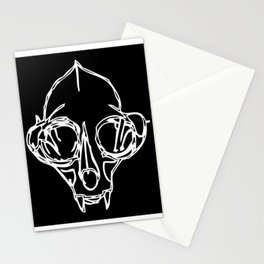 Madam Salami Cat Skull Stationery Cards
