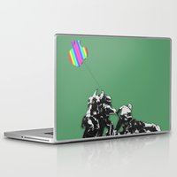 banksy Laptop & iPad Skins featuring Banksy style by veronica ∨∧