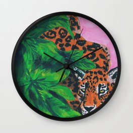 Jungle cat Wall Clock
