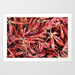 Chili Chipotle red hot Art Print