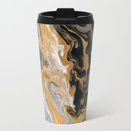 Gold Vein Marble Travel Mug