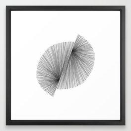 Black and White Mid Century Modern Geometric Abstract Framed Art Print