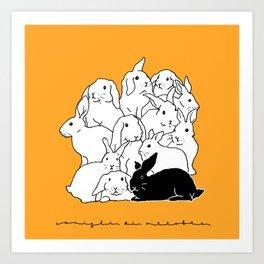 October Rabbits Art Print