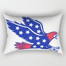 American Eagle Swooping Stars Icon Rectangular Pillow