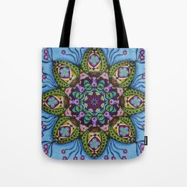 Blue Health Mandala - מנדלה בריאות Tote Bag