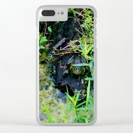 Relax frog Clear iPhone Case