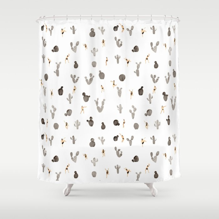 Incroyable Black And White Desert Shower Curtain