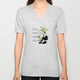 Eats, Shoots and Leaves Unisex V-Neck