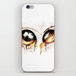 Bown owl eye iPhone Skin