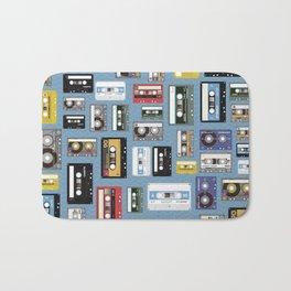 Retro cassette tape pattern 2 Bath Mat