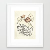 chef Framed Art Prints featuring CHEF by Mike Koubou