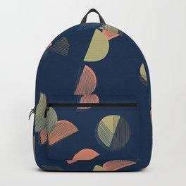 Striped Geometry 2 Blue Backpack