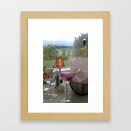 cocktails with a view Framed Art Print