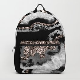 Yin Yang Agate Glitter Glam #5 #gem #decor #art #society6 Backpack