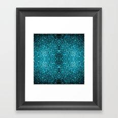 Beautiful Aqua blue glitter sparkles Framed Art Print