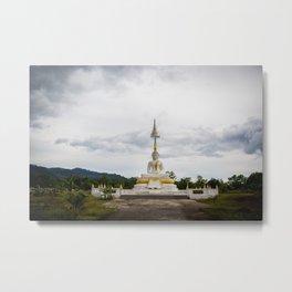 Thailand tempel Khao lak Metal Print